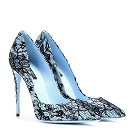 DOLCE&GABBANA - Kate lace-coated pumps