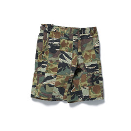 sophnet. - CAMOUFLAGE PATCH WORK SHORT PANT
