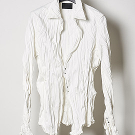 junhashimoto - WRINKLE HOOK SHIRTS (WHITE)