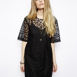 ASOS - ASOS Reclaimed Vintage Lace T-Shirt Dress