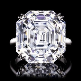 Harry Winston - Emerald-cut Diamond Ring