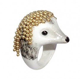 nach - Hedgehog with chain ring