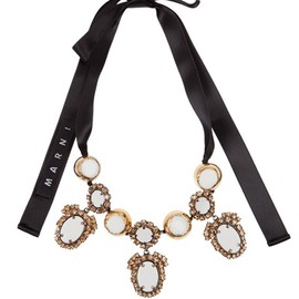 MARNI - ribbon tie necklace