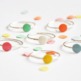 Confetti ring 'you only need one confetti to remember the party...' sterling silver