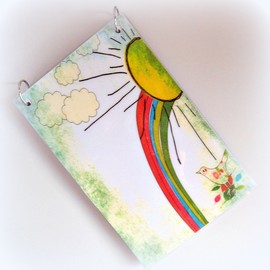"Luulla - Refillable Journal Notebook ""Back to School"". Size 5""x8""."