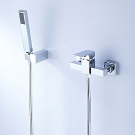 FaucetSuperDeal - Contemporary Tub Shower Faucet with Hand Shower - FaucetSuperDeal.com