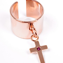 Maria Francesca Pepe - RING WITH MFP CROSS CHARM