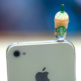 fingerfooddelight - Kawaii STARBUCKS FRAPPE iPhone Earphone Plug