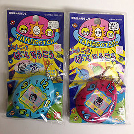 Tamagotchi - Tamagotchi-Adhesive-Bandages-Plaster-Case-Red-Blue-Set-1996-1997-Japan