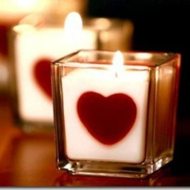 valentine's day Candle