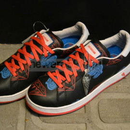 Ice Cream, Billionaire Boys Club - Diamond & Dollars Sneakers - Blk/Red/P-Blue