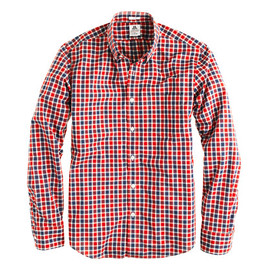 J.CREW - Thomas Mason® archive for J.Crew shirt in 1892 rusted red check
