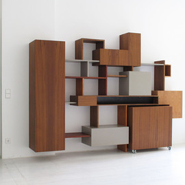 Rainer Spehl - Shelving Unit with integrated storage boxes