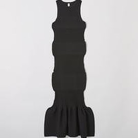 CFCL - FLUTED DRESS - BLACK -