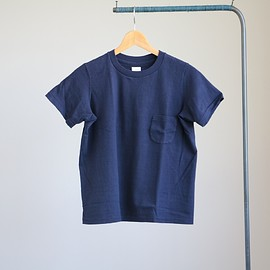 YAECA - 丸胴 Crew Neck Pocket Tee #navy