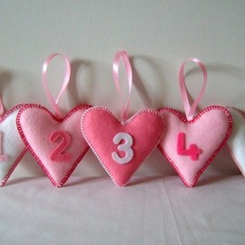 Luulla - Pink Heart Number Decorations