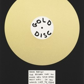 David Shrigley - Gold Disc, 2012
