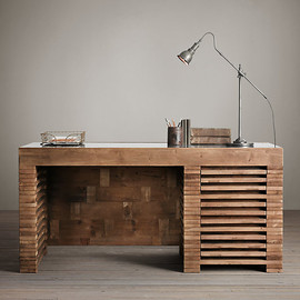 Restoration Hardware - Reclaimed Timber Slat Desk