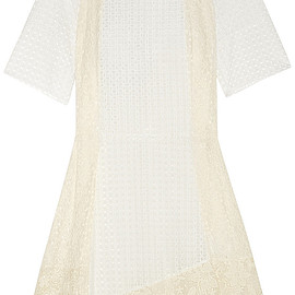 See by Chloé - Guipure lace-paneled broderie anglaise cotton dress