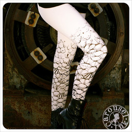 Carouselink - Mermaid Art - Womens Tights