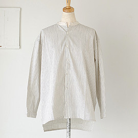 ICHI - i c h i cotton stripe cleric shirts (#161039)