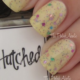 Whimsical Ideas By Pam-Hatched 1 coat over Megan Miller Collection Lemon Ice