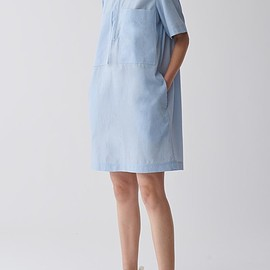 cos - ZIP-UP COTTON SHIRT DRESS