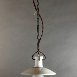 "ドイツ・アンティーク - 1920-30's ""Porcelain"" German MINI Pendant Light"