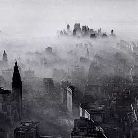 Neal Boenzi - Smog Covered Skyline - 1966