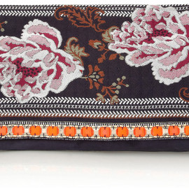 Matthew Williamson - Zippy embellished jacquard and suede clutch