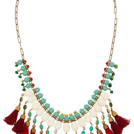 ISABEL MARANT - Gold-plated beaded necklace