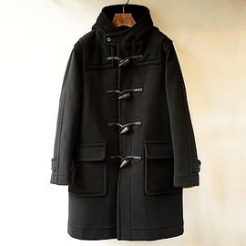 INVERTERE - JOSHUA ELLIS DUFFLE COAT / BLACK