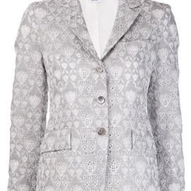 THOM BROWNE - embroidered lace jacket