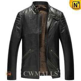 cwmalls - CWMALLS Leather Motorcycle Jacket CW850403