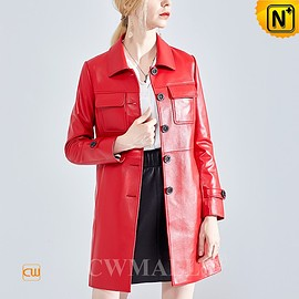 CWMALLS - Custom Leather Coat | CWMALLS® Milan Women Lambskin Leather Coats CW619058 [Made to Order]