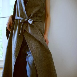 HOLD FAST - WRAP OVER APRON DRESS