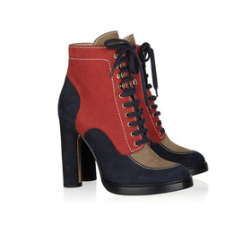 BALLY - Colorblock Suede Ankle Boots