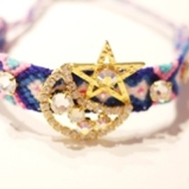 rosy monster - happy bracelet star blue×pink