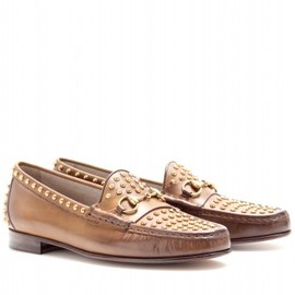 Gucci - STUDDED LEATHER LOAFERS