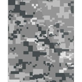 SECOND SKIN - DIGITAL camouflage グレー (クリア) design by Moisture / for iPhone 5s/docomo