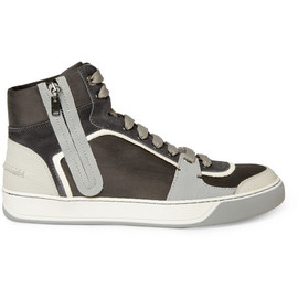 LANVIN - Lanvin Leather and Suede Panelled Sneakers