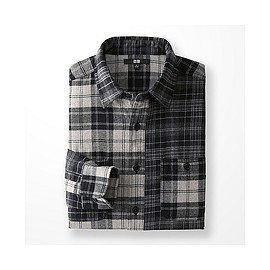 UNIQLO - Flannel Mixed Check Long Sleeve Shirt