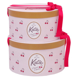 Katie - HAT BOX round CHERRY CHERRY S