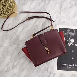 Yves Saint Laurent - Saint Laurent Toy Cabas Bag In Leather Burgundy