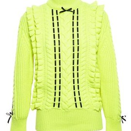 Christopher Kane - CHRISTOPHER KANE - Cashmere Jumper with Ribbon Detail