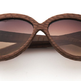 Linda Farrow Luxe - Leathered Frame Sunglasses