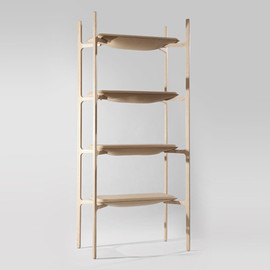 Damien Gernay - Bloated Shelf, with leather shelves