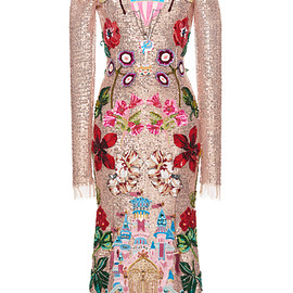 DOLCE&GABBANA - FW2016 Sequined Long Sleeve Dress With Castle Motif