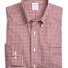 Brooks Brothers - Non-Iron Slim Fit Gingham Sport Shirt (Red)