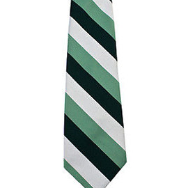 VINTAGE - Vintage Orsini Mens Striped Necktie in Green/Gray Dapper Menswear